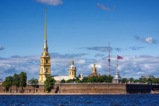 Веб-камера Петропавловская крепость, Санкт-Петербург в реальном времени